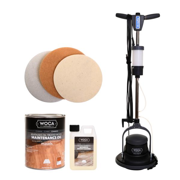 Cleanfix Floormac mit Woca Pflegeöl-Set